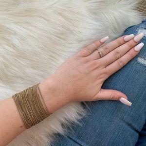 Jewelry - Gold Layered Bangle Chain Bracelet